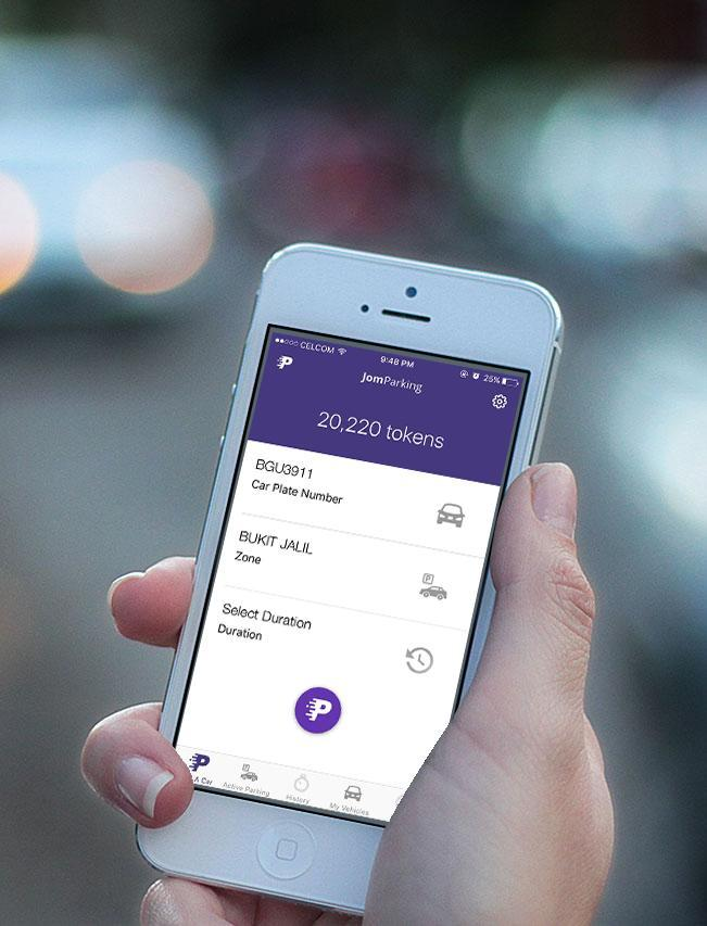 With JomParking App You Don't Have to Scratch And Display Parking Coupons Anymore