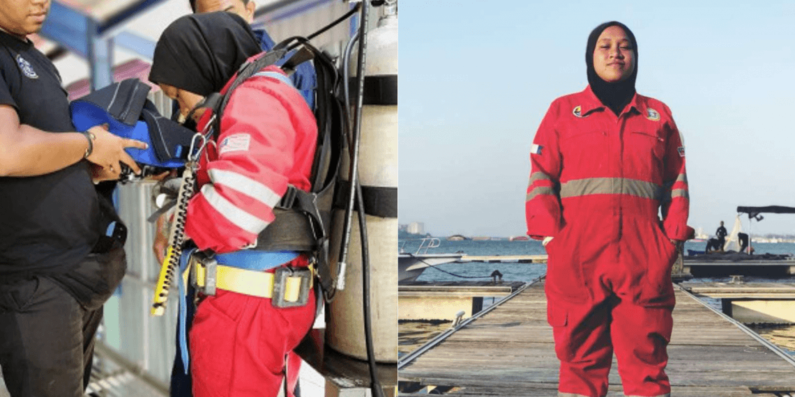 Athirah, 22 Years Old is The First Female Underwater Welder in Malaysia