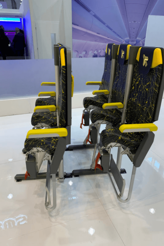 The New Airline Seats Will Have You Standing, Not Sitting