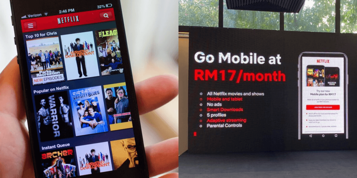 You Can Now Watch Netflix for Only RM17 Per Month