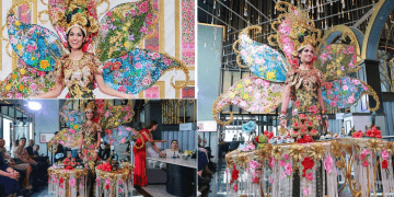 Miss Universe Malaysia's Peranakan-Inspired Outfit Weighs 28kg, Completes with Trays of Kuih-Muih