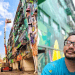 This Artist  Paints The Six-Storey Building by Himself, Making it The Largest Mural in M'sia